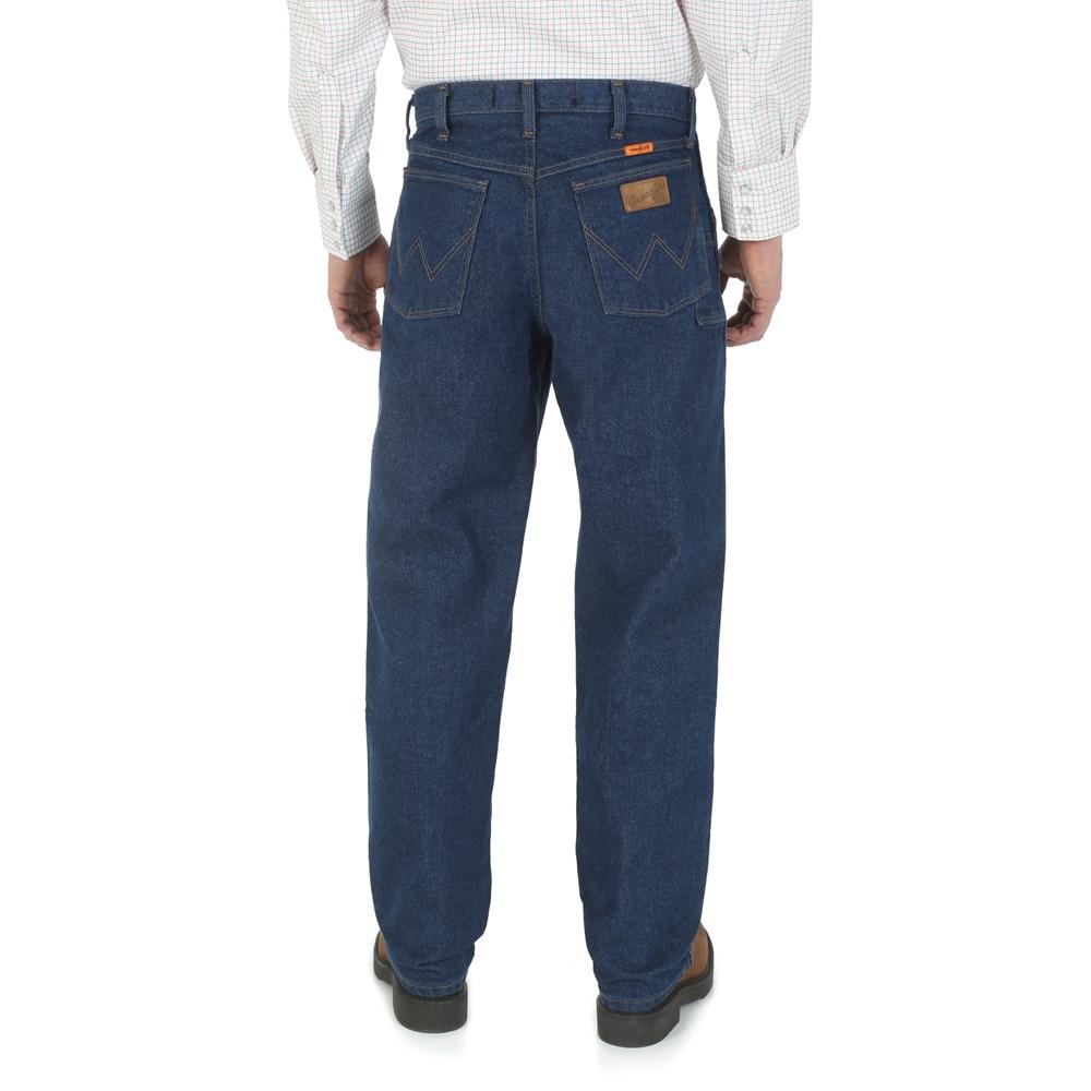 1658d0b7 Men's Wrangler FR Relaxed Fit Blue Jeans | FR31MWZ