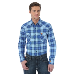 Wrangler FR Light Weight Plaid Work Shirt