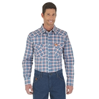Wrangler FR Western Work Shirt - Blue/Red