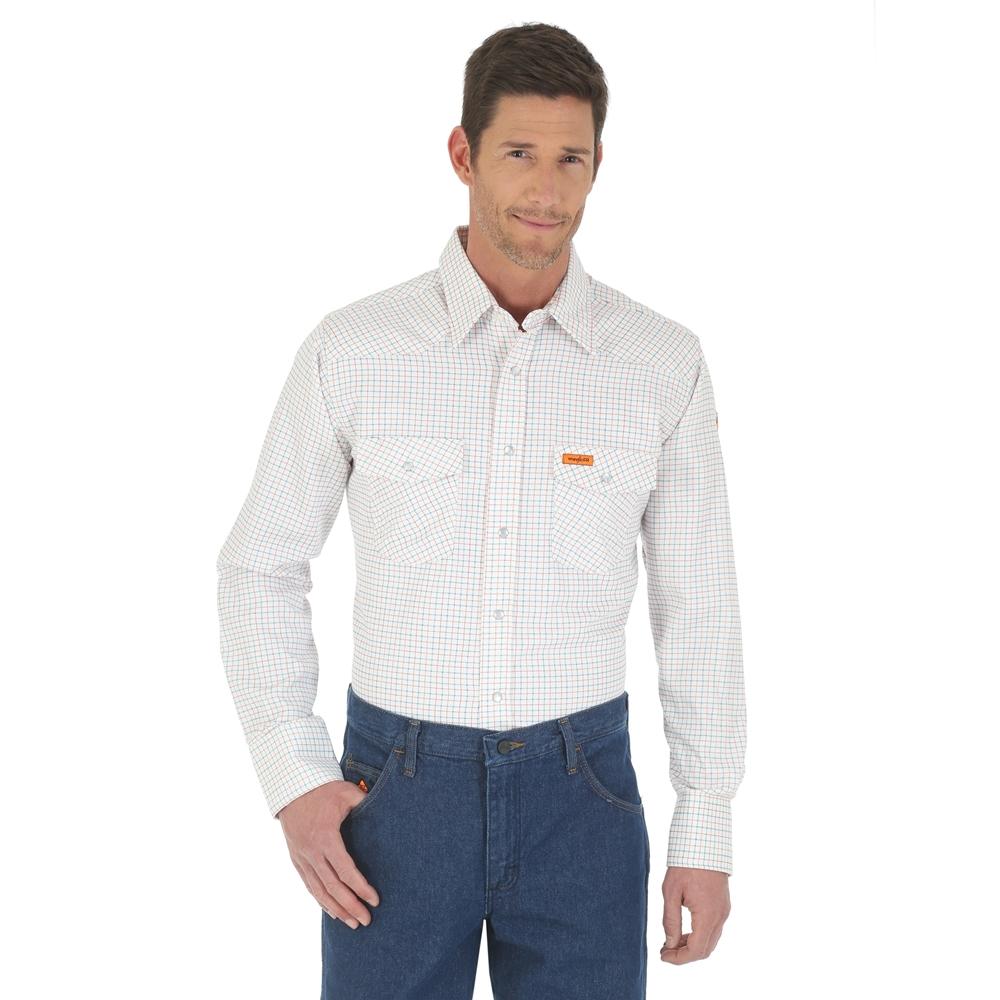 c6a49f0d1fe Wrangler FR Western Work Shirt - White - FR130WH ...