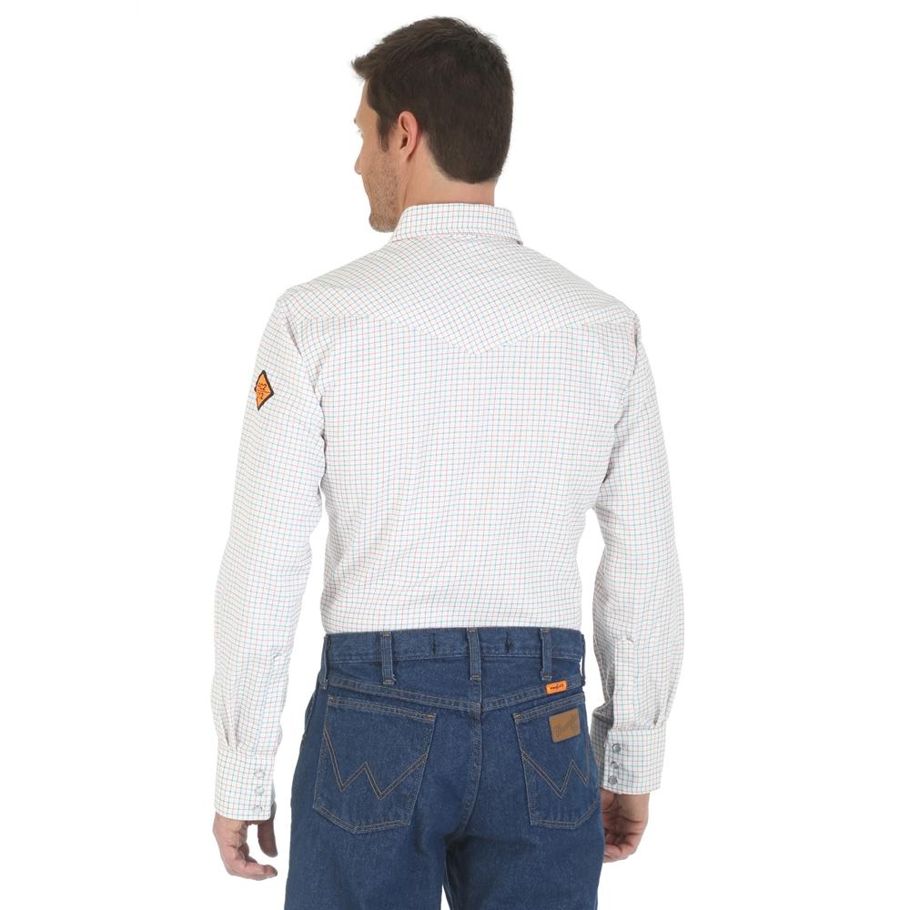 82f30a57cb4 ... Wrangler FR Western Work Shirt - White - FR130WH ...