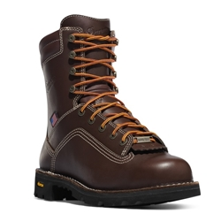 "Danner Quarry USA Brown 8"" Alloy Toe Work Boot"